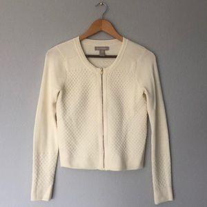 Banana Republic Cream Cardigan Sweater w/Zipper XS